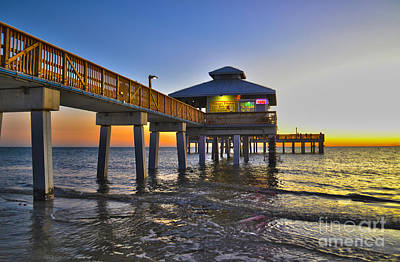 Fort Myers Beach Pier 3 Art Print by Timothy Lowry