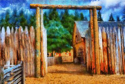 Thomas Kinkade Rights Managed Images - Fort Nisqually Entrance Royalty-Free Image by Kaylee Mason