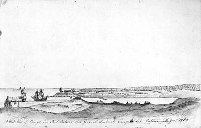 Wash Drawing - Fort Ontario, 1760 by Granger