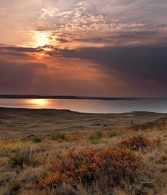 Fort Peck Lake Art Print by Leland D Howard