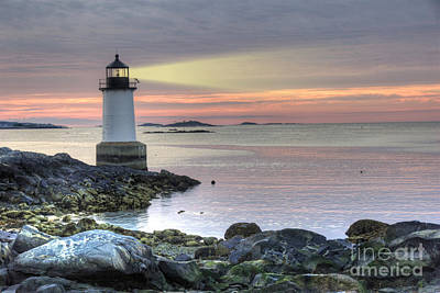 Fort Pickering Lighthouse At Sunrise Art Print