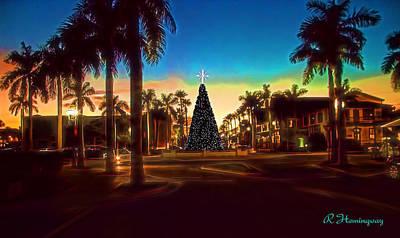 Fort Pierce Marina Photograph - Fort Pierce Christmas Tree by Richard Hemingway