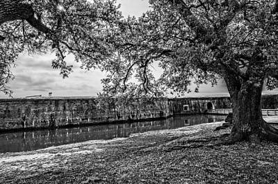 Photograph - Fort Pike Approach In Black And White by Andy Crawford