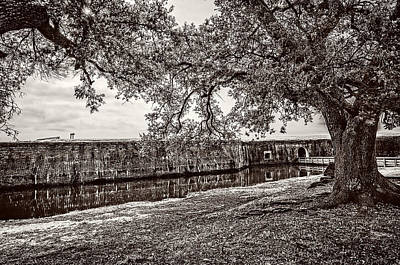 Photograph - Fort Pike Approach - Sepia by Andy Crawford
