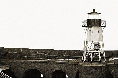 Fort Point Lighthouse Art Print by Holly Blunkall