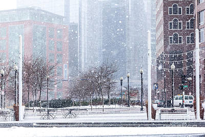 Photograph - Fort Point Park In Snow by Susan Cole Kelly