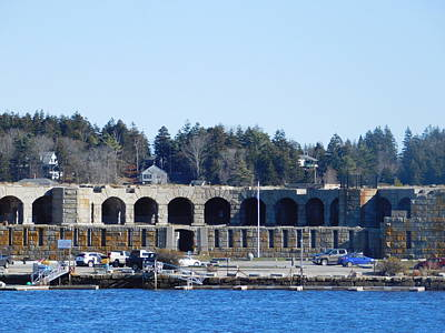Fort Popham In Maine Art Print