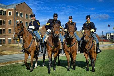 Photograph - Fort Riley Kansas Commanding Generals Mounted Color Guard by Tim McCullough