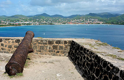 Saint Lucia Photograph - Fort Rodney - St. Lucia by Brendan Reals