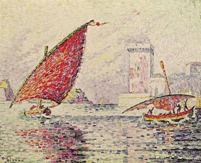 Yacht Painting - Fort Saint-jean, Marseilles by Paul Signac