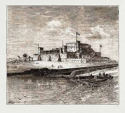 Ghana Drawing - Fort St. George, Elmina by Litz Collection