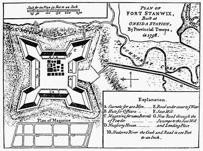 Fort Stanwix, 1758 Art Print
