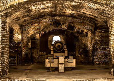 Fort Sumter Famous Cannon Art Print by Optical Playground By MP Ray