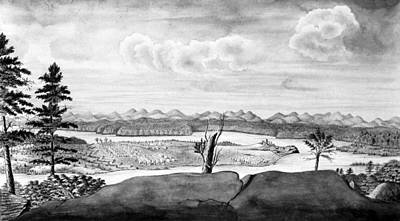 Wash Drawing - Fort Ticonderoga, C1760 by Granger