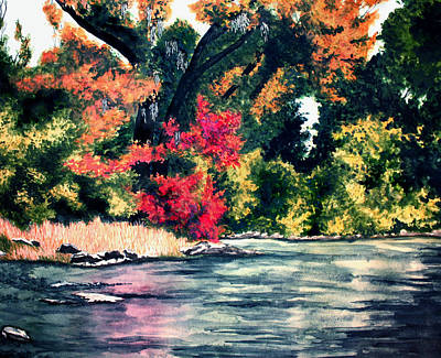 Fort Toulouse Tallapoosa River Flair Art Print by Beth Parrish