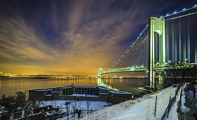 Fort Wadsworth And Verrazano Bridge Art Print