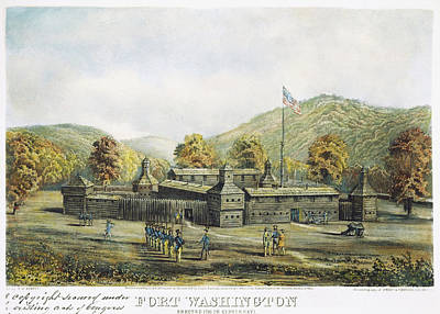 Cincinnati Painting - Fort Washington by Granger