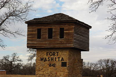 Photograph - Fort Washita Oklahoma Entrance by Robyn Stacey
