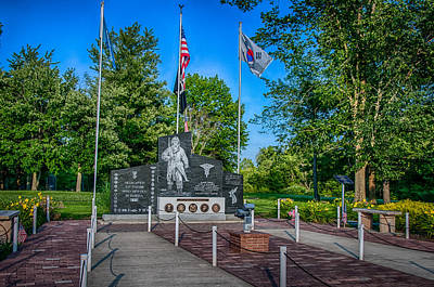 Photograph - Fort Wayne's Veterans Of Korean War Memorial by Gene Sherrill