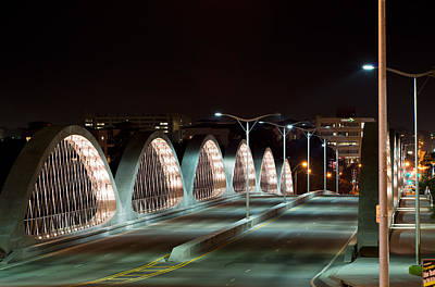 Fort Worth Seventh Street Bridge Oct 10 2014 Art Print