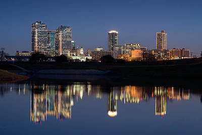 Photograph - Fort Worth Skyline 020915 by Rospotte Photography