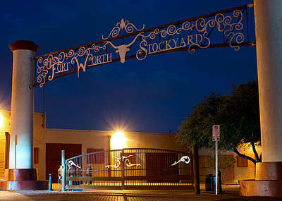 Photograph - Fort Worth Stockyards Sept  26 2014 by Rospotte Photography