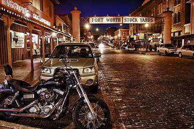 Fort Worth Stock Yards Art Print by John Hesley