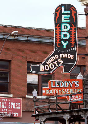 Photograph - Fort Worth Stockyards Leddy's by Rospotte Photography