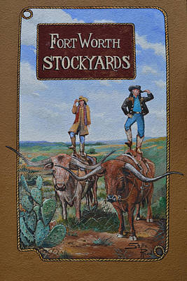 Photograph - Fort Worth Stockyards Mural by rd Erickson
