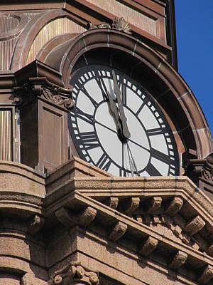 Fort Worth Texas Courthouse Clock Art Print