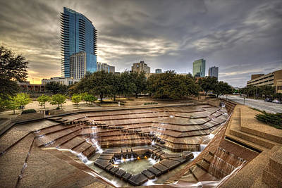 Fort Worth Water Garden Art Print by Jonathan Davison