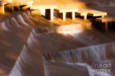 Fort Worth Water Gardens Steps Art Print