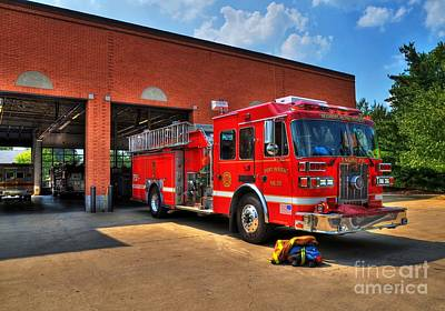 Photograph - Fort Wright Fire Station by Mel Steinhauer
