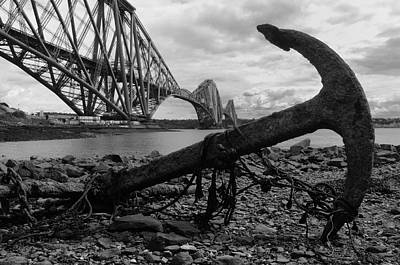 Forth Bridge Anchor Art Print by Jeremy Voisey