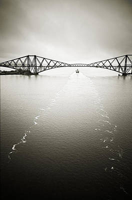 Photograph - Forth Bridge Traffic by Lenny Carter