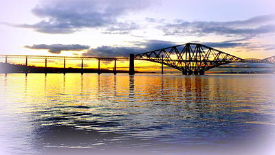 Forth Rail Bridge At Sunset Art Print by The Creative Minds Art and Photography