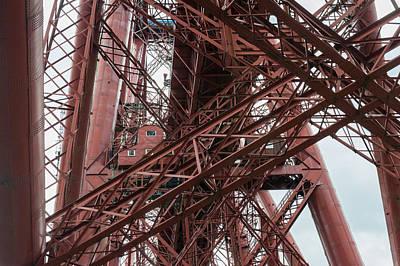 Photograph - Forth Rail Bridge Girders by Gary Eason
