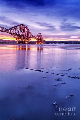 Day Break Photograph - Forth Rail Bridge by John Farnan