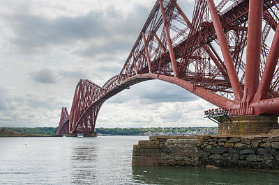 Photograph - Forth Rail Bridge North East View by Gary Eason