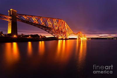 Forth Rail Bridge Pre Dawn Art Print by John Farnan