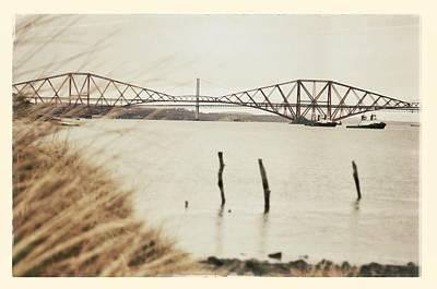 Photograph - Forth Rail Bridge Scotland Coastline by Lenny Carter