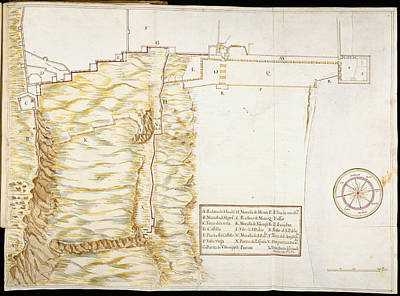 Cartography Photograph - Fortifications At Gibraltar by British Library