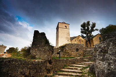 Fortified Church At La Couvertoirade Art Print by Panoramic Images
