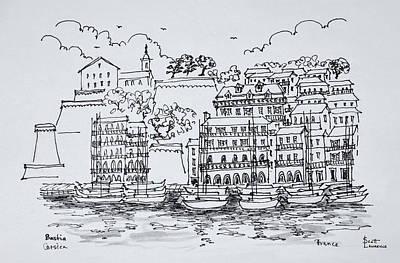 Fortified Port Of Bastia, Corsica Art Print