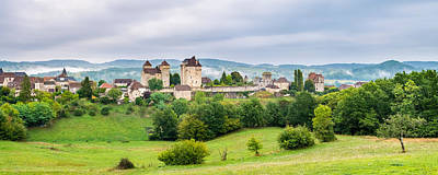 Fortified Town Of Curemonte, Correze Art Print by Panoramic Images