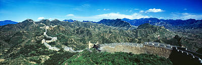 Fortified Wall On A Mountain, Great Art Print