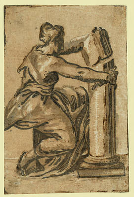 Fortitude, Between 1500 And 1610 Art Print by Carpi, Ugo Da (c.1480-1520/32), Italian