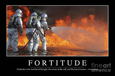 Photograph - Fortitude Inspirational Quote by Stocktrek Images