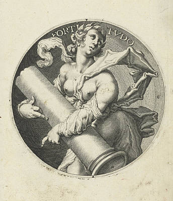 Fortitude, Jacob De Gheyn II Art Print by Jacob De Gheyn (ii)