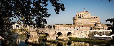 Castel Santangelo Wall Art - Photograph - Fortress And Bridge by Weston Westmoreland